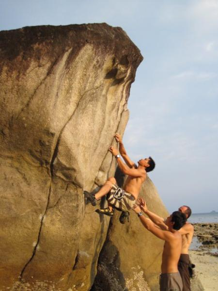 Rock Climbing & Bouldering At Tioman Island,malaysia
