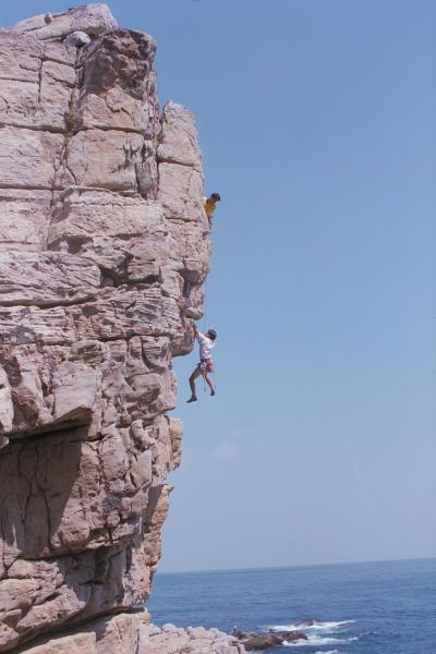 22年前的龍洞攀岩照